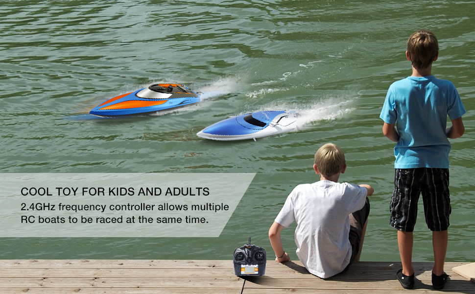 Amazon com: Gizmovine RC Boat Pool Toys High Speed (20 MPH+)
