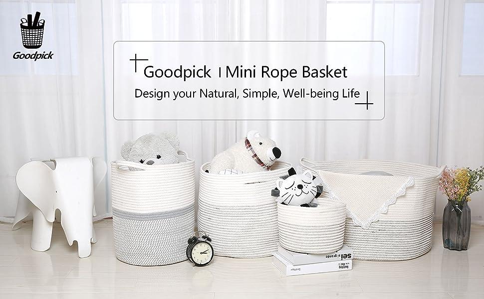 Goodpick Mini Rope Basket
