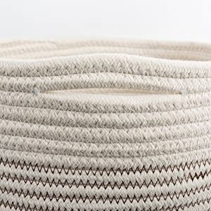 cotton rope basket - small storage containers - woven storage basket - decorative toy storage basket