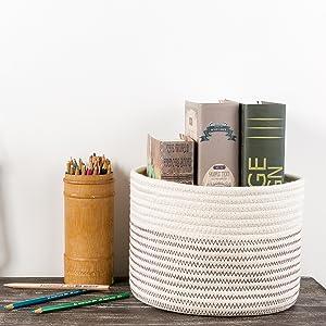 cotton storage basket - woven storage basket - magazins containers - kids toy storage bins
