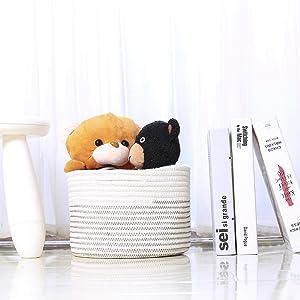 toy storage basket - small storage bins - cotton storage basket - storage containers