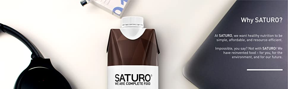 Saturo is a ready-to-drink meal replacement. It contains all the nutrients your body needs.