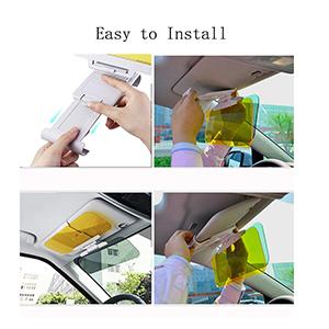 sun visor extender for cars