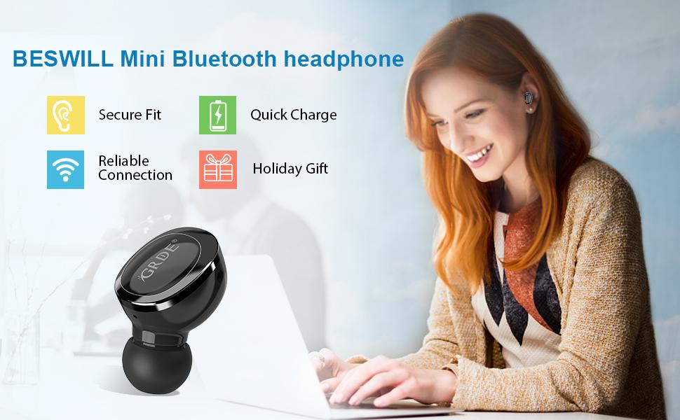 minin bluetooth headphone