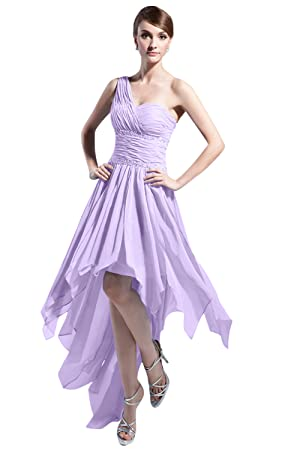 25ab4e47114 This one-shoulder asymmetrical beads hi-lo dress is made of high quality  chiffon. It can be used as bridesmaid dress