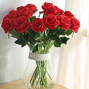Amazon.com: JUSTOYOU 10pcs Artificial Rose Silk Flower Blossom ... on amazon wallets, amazon wine decanter, amazon garden stools, amazon frames,