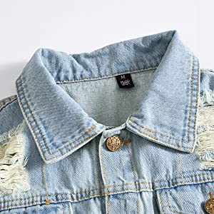 Men's Retro Ripped Denim Vest Camouflage Stitching Outdoor Sleeveless Jacket