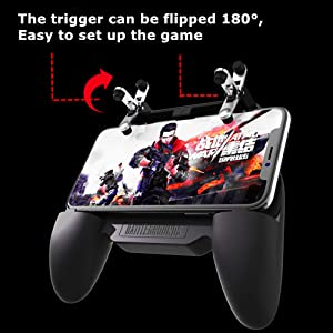 COOBILE Mobile Game Controller for PUBG Mobile Controller L1R1 Mobile Game Trigger Joystick Gamepad for 4-6.5