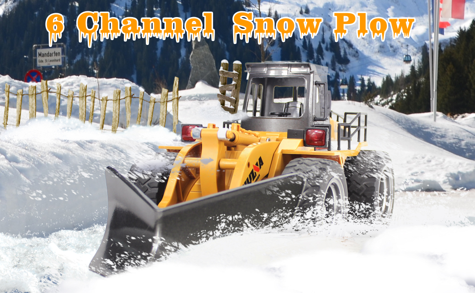 Amazon Com Fisca Rc Truck Remote Control Snow Plow 6 Ch 2 4g Alloy