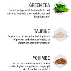 Green Tea, Taurine, Yohimbe