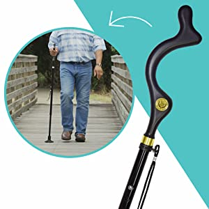 Amazon Com Campbell Posture Cane Foldable Walking Cane For Men And Women Fsa Hsa