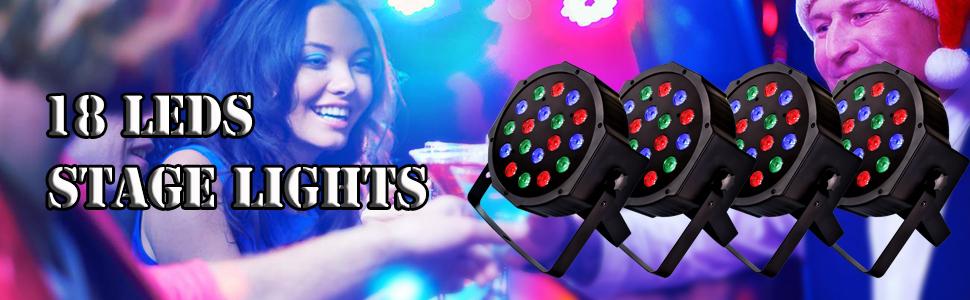 18 LED сценични светлини