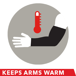 youth arm sleeve keep arms warm insulated