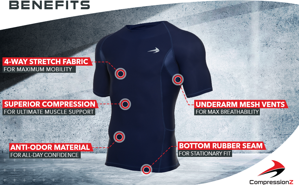 spandex shirt top short sleeve breathable sweat wicking dry fit