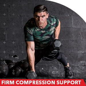 firm compression top guys workout gym wear