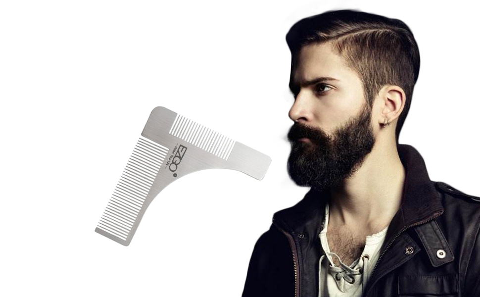 Amazon.com : EZGO Stainless Steel Beard Styling and Shaping Template ...