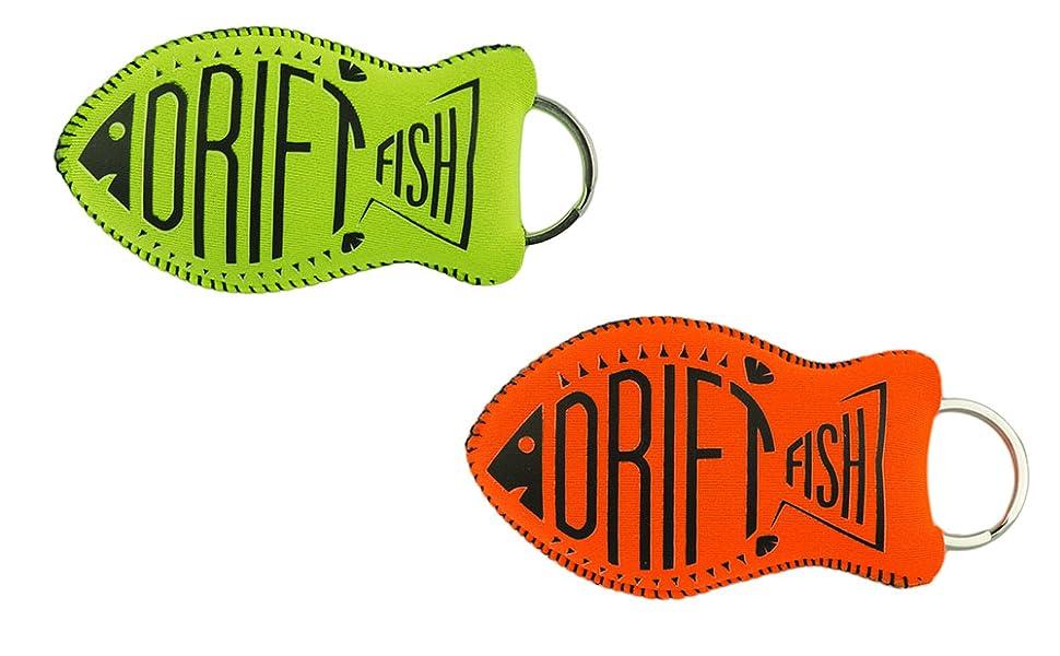 DriftFish Floating Neoprene Boat Keychain Key Float | Jumbo Size - Float 5 to 6 Keys | Waterproof Key Chain Buoy | Great for Boating and Water Sports, ...