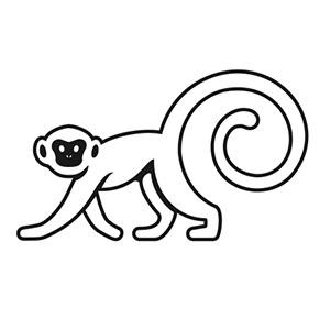 white monkey coffee alternative logo premium coffee purveyors