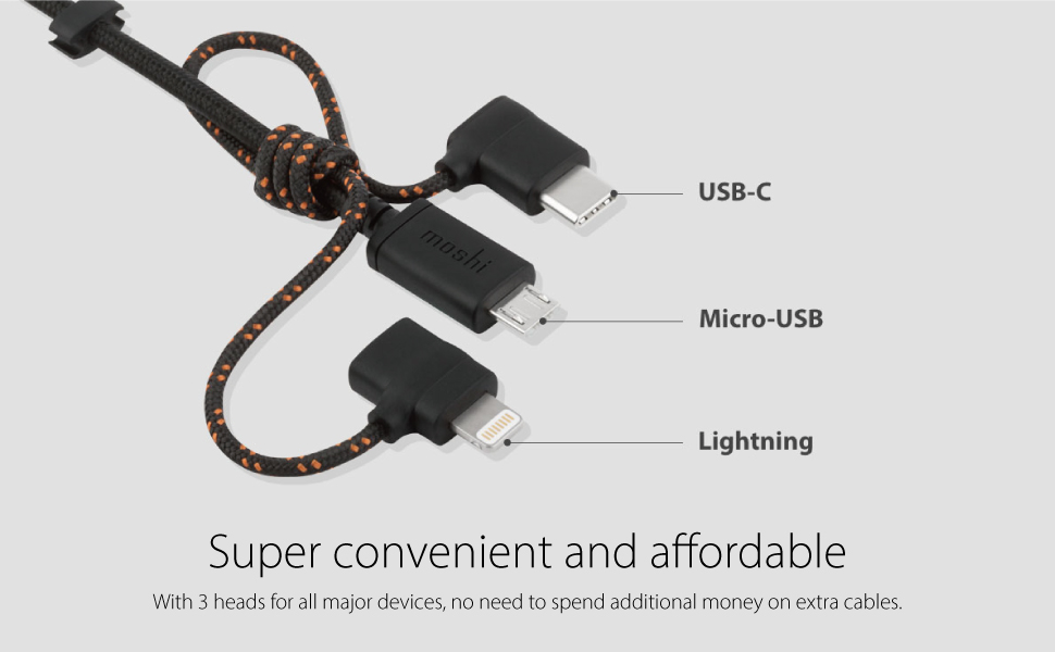 KyleCServaiss J/& Di/&lla USB Cable Multi Charger Cable,Universal 3 in 1 Multiple Ports Devices USB Charging Cord with iOS//Android//Type C//Micro USB Connectors for Phones Tablets Charging Only