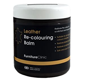 Furniture Clinic Leather Recoloring Balm – Renew, Restore & Repair Color to Faded and Scratched Leather | 21 Color Choices, Works on Couches, Car ...