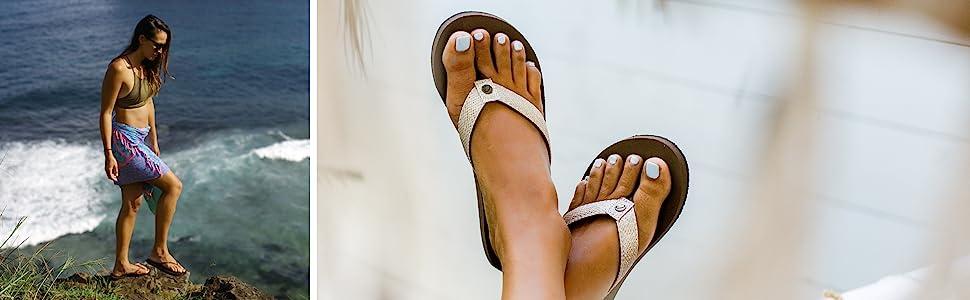 corinne gold, aaron gold, surf, womens sandals, womens flip flops, cobian, braided bounce