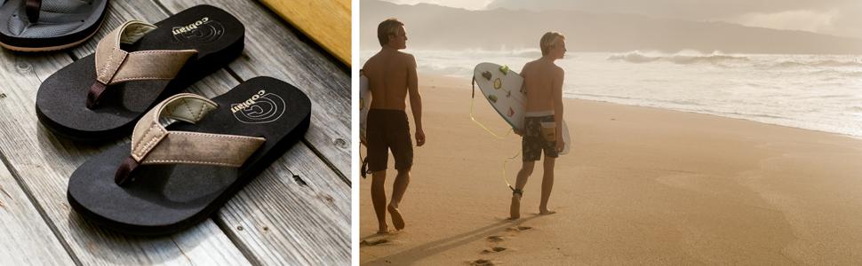 cobian, surf, mens sandals, mens flip flops, hawaii, floater, comfort