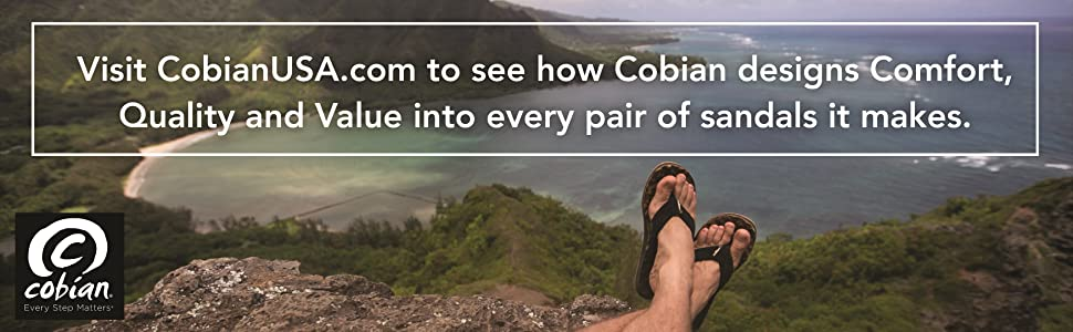 Cobian designs comfort quality and value into every pair of sandals it makes.