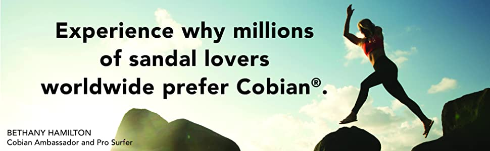 Experience why millions of sandal lovers worldwide prefer Cobian.