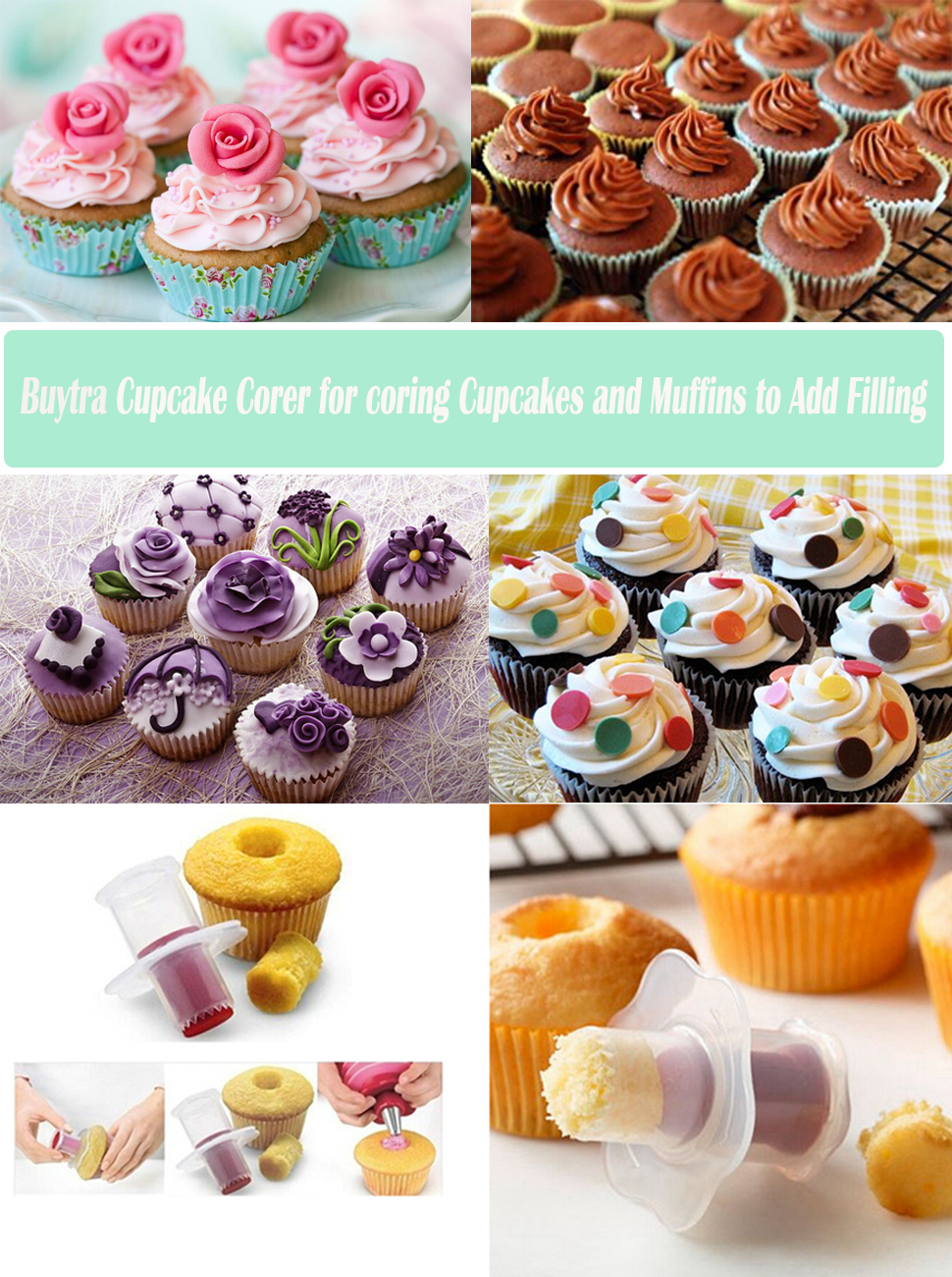 Amazoncom Buytra Cupcake Plunger Cutter Pastry Corer Decorating