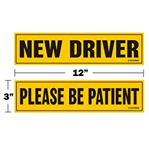 New driver please be patient magnet sign decal