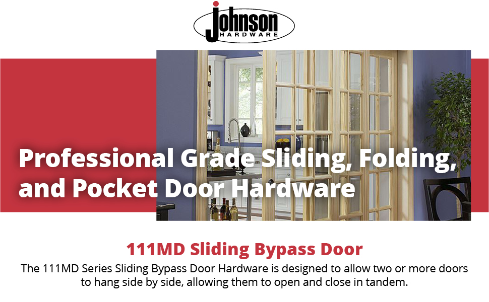 94 In Johnson Hardware 111MD Multi-Slide 3-Door Hardware Set