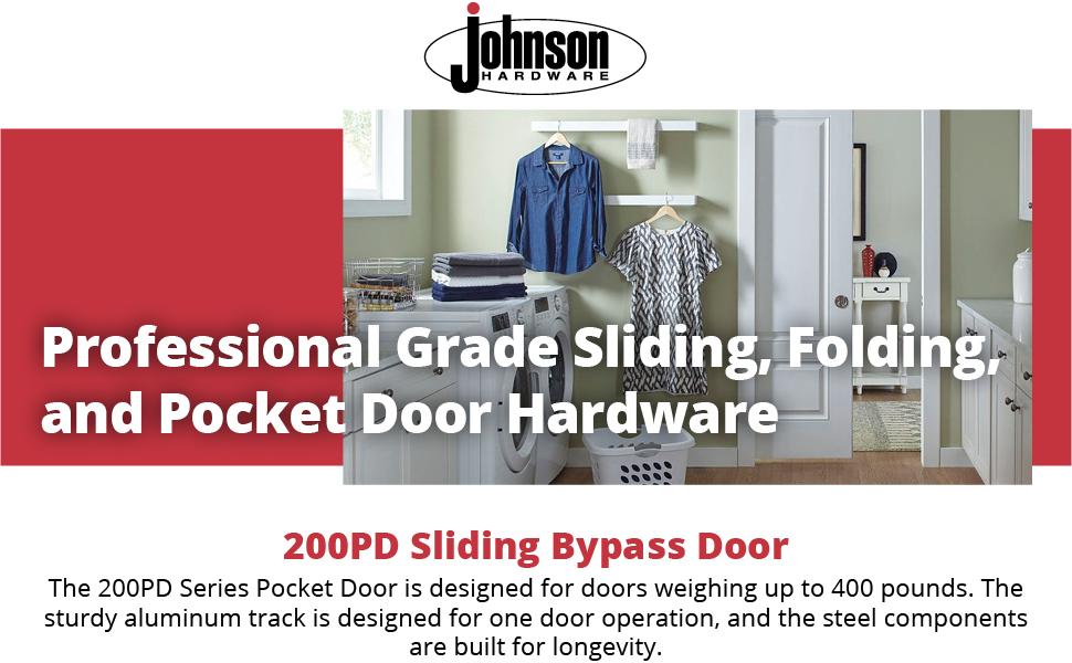 """200PD Commercial Grade Pocket 72/"""" Sliding Door Hardware"""