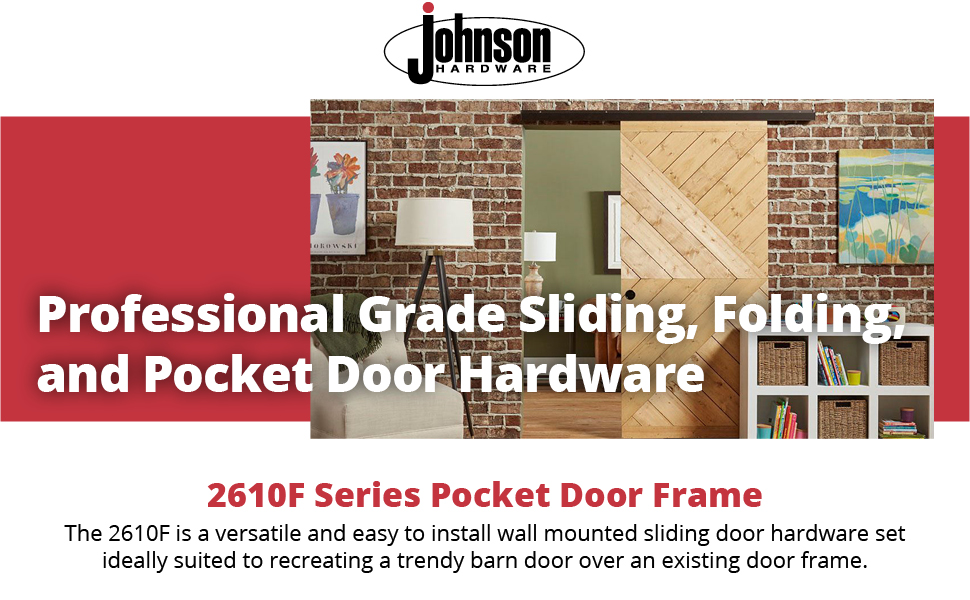 2610 Wall Mount Barn Door Type Sliding Door Hardware 72