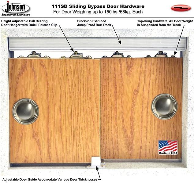 111SD Sliding Bypass Door Hardware