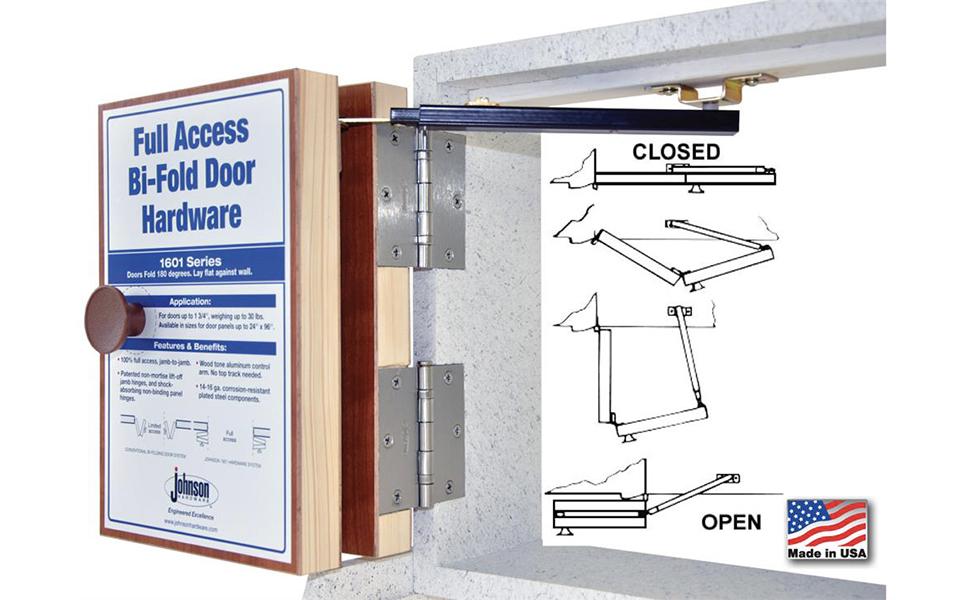Johnson Prod. 1601218P 100% Full Access Folding Door Hardware Set ...