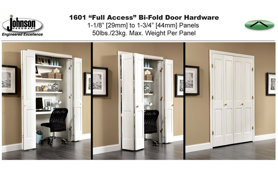 Johnson Prod 1601218p 100 Full Access Folding Door Hardware Set