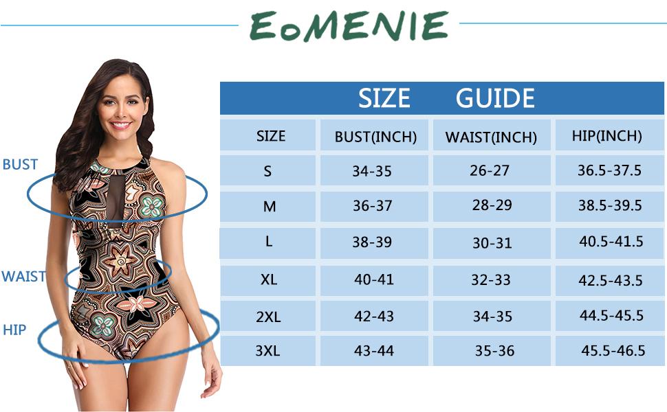 3ccd927bc88 Eomenie Women Swimsuit Cutout Mesh Plus Size Bathing Suit Tummy ...
