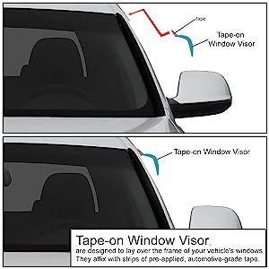 Visors Wind Deflector 4pcs Rain Guard 06-12 2006-2012 Ford Fusion S SE SEL