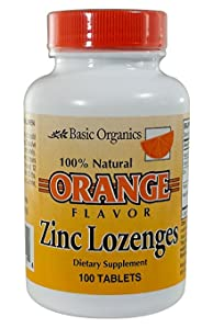 Amazon Com Basic Organics Natural Flavor Zinc Lozenges Orange 100