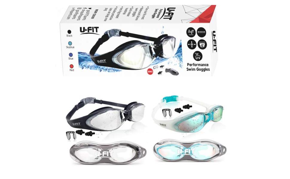 7e809435ba5 Amazon.com   U-FIT Swim Goggles