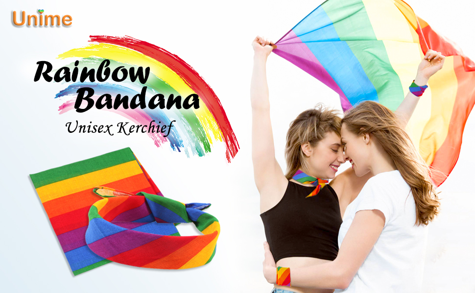 rainbow bandanas
