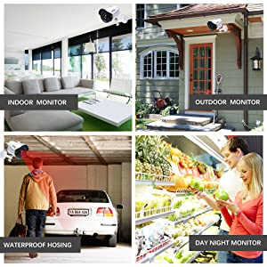 ELEC 1080N HD Outdoor Home Security Camera System CCTV Video Monitoring Surveillance DVR Kit with 4pcs Weatherproof Infrared Night Version 2000TVL Cameras Remote Access Motion Alerts (4CH 4CAM)