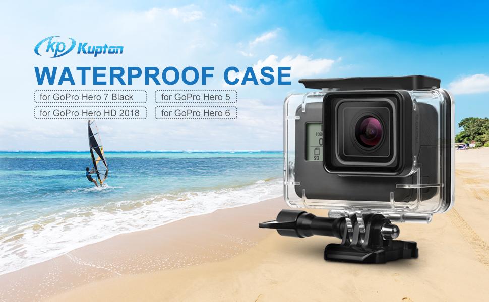 Kupton Waterproof Case for GoPro Hero 7 Black Hero 5 / 6 Accessories Housing Case Diving Protective Housing Shell 45 Meter for Go Pro Hero7 Hero6 ...