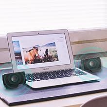 SUPVIN Portable Mini Laptop Clip-On Stereo Multimedia Soundbar
