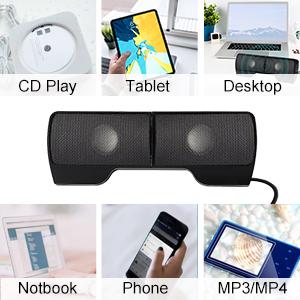 Compatibility of Portable Mini Laptop Clip-On Speaker