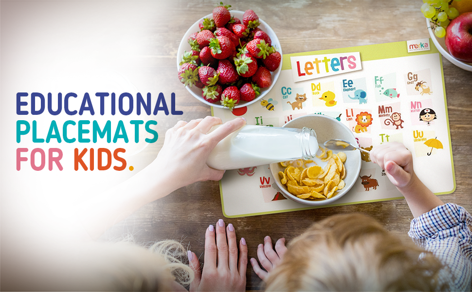 Educational Placemats for Kids