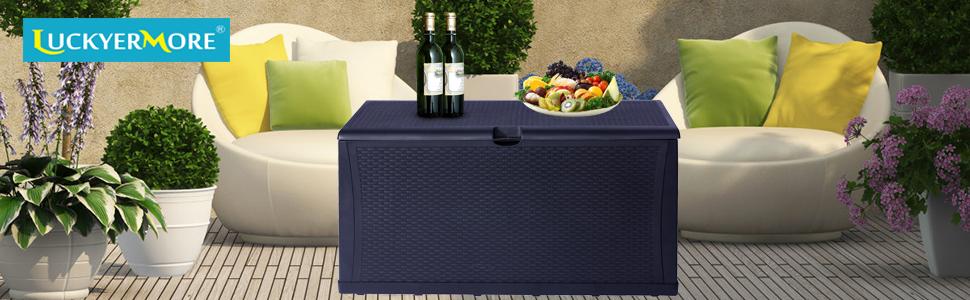 LUCKYERMORE outdoor deck storage box