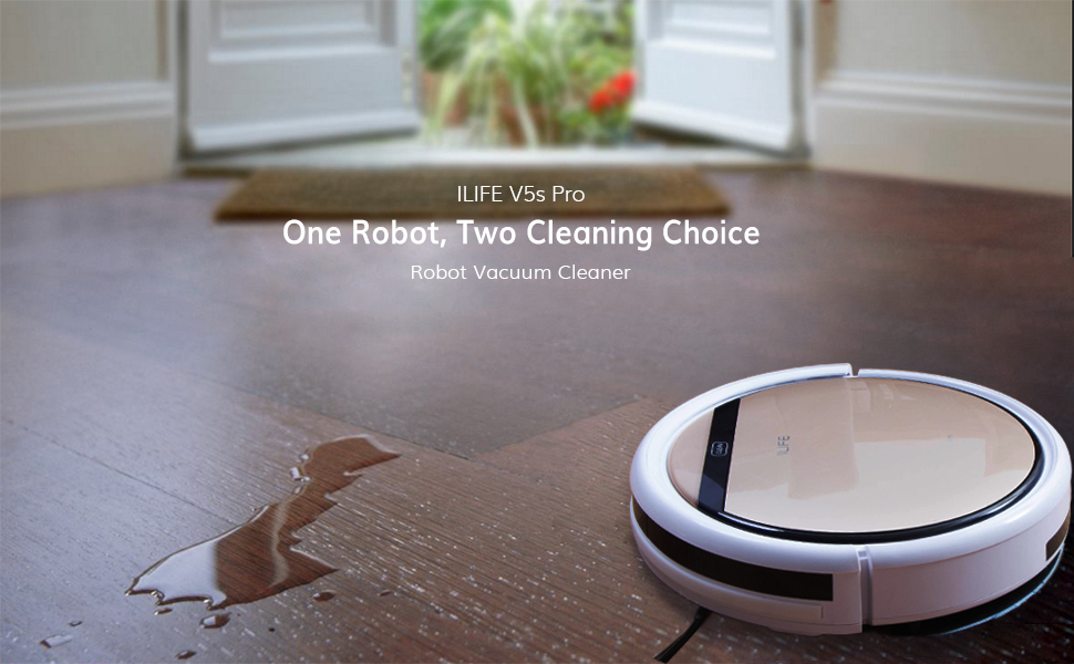 ILIFE V5s Pro Is Specially Designed For Hard Floors (  Wood/tile/mable/laminate). With A Smart Water Tank Installed, V5s Pro Pull  Deeper Dirt And Grime Off ...