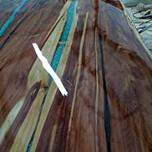 Tabletop coating with clear TotalBoat TableTop Epoxy by customer Nicole Littletaylor