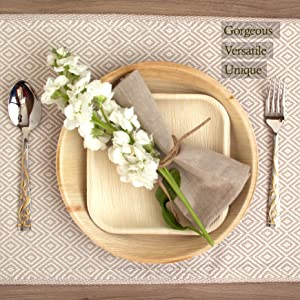 Palm Leaf Plates palmleaf 100% natural bamboo plate  wedding recycle event holiday dinner